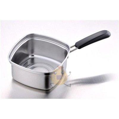 日本 下村企販 不鏽鋼 四角 方型湯鍋/泡麵鍋 15cm【小元寶】超取