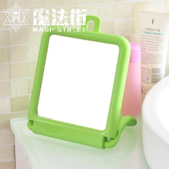 臺式壁掛兩用鏡 可掛毛巾鏡子化妝鏡浴室掛墻梳妝鏡臺鏡寢室鏡子