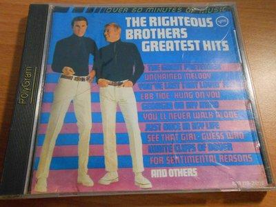【采葳音樂網】-西洋CD–〝RIGHTEOUS EROTHERS GREATEST HITS〞**共1片A8