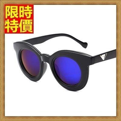太陽眼鏡 女墨鏡-偏光時尚潮流圓框抗UV眼鏡5色71g72[獨家進口][米蘭精品]