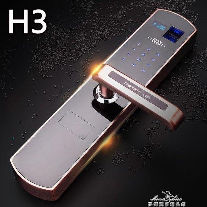 指紋鎖家用防盜門鎖遙控密碼鎖刷卡鎖自動鎖感應鎖雙開大門智慧鎖igo