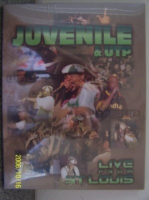【嘻哈DVD】665.Juvenile & UTP聖路易演唱會實況(曲目詳照片),全新未拆封