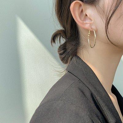 小何 ~MS大耳圈女 歐美風 圈圈耳飾圓圈耳環金屬網紅圓環時尚韓國氣質