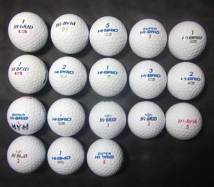 *新威全高爾夫**~特級9~9.999成新(MAXFLI HI-BRID Bb )綜合球(共27顆)