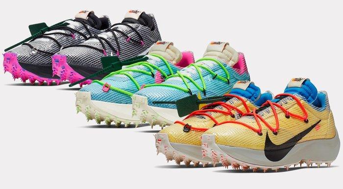 沃皮斯§Off-White x Nike Vapor Street 黃黑 釘鞋 女款 CD8178-700