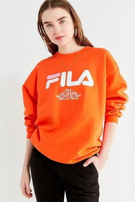 代購 FILA + UO Crew-Neck Sweatshirt  橘色長袖上衣