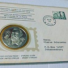 瑞典   首日戳 套組紀念 銀幣 (精面)