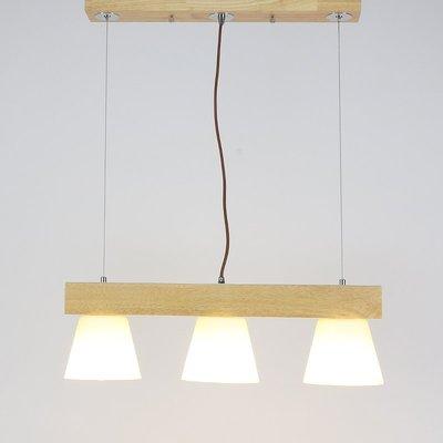 三頭餐廳燈^吧臺咖啡廳簡約餐廳吊燈實木...
