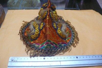 紫色小館-87---------早期神明刺繡帽子