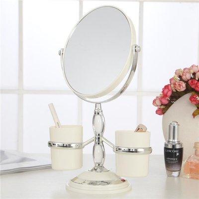 歐式台式化妝鏡子雙面梳妝鏡桌面YSY