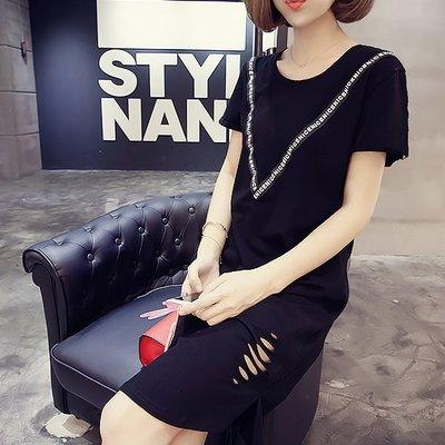 洋裝 #F-015 圓領短袖居家休閒連身洋裝款