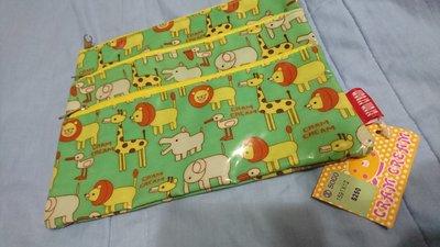 全新未使用-日本品牌CRAM CREAM出品-滿版動物筆袋