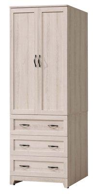 【生活家傢俱】SY-24-5※傑西2.7尺衣櫃【台中9900送到家】開門式衣櫥 低甲醛木心板 北歐風 台灣製造