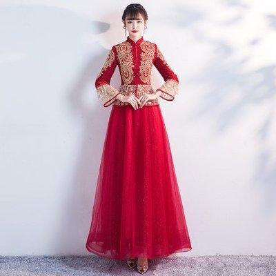 妞妞 婚紗禮服~中國風新娘結婚訂婚復古...