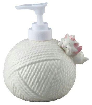 天使熊雜貨小舖~迪士尼瑪麗貓咪瓷器皂液器 300ml   全新現貨