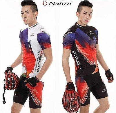 呱啦呱啦代購 2012爆款 NALINI 意大利車隊 騎行服 短袖+短褲套裝 車衣車褲短套裝 男女款