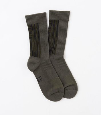 OVERLORD NOZZLE QUIZ LANDING R 橄綠 中筒 休閒襪