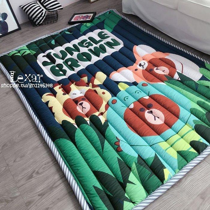 四季可用卡通佩奇棉質臥室寶寶爬行發呆裝飾隔涼防滑機洗休閒地墊