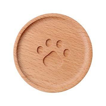 現貨 ◎日本◎ 北歐風木製圓形 肉球 杯墊