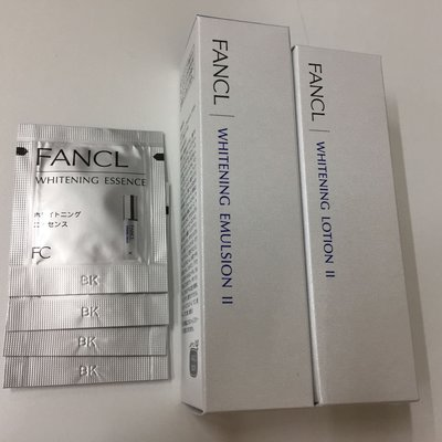 Fancl Whitening Lotion II + Fancl Whitening Emulsion II + Whitening Essence set