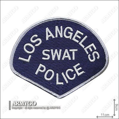 【ARMYGO】美國 LAPD SWAT 警用臂章(一組兩片)