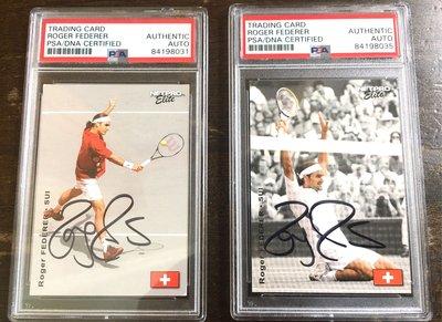 網球天王 Roger Federer PSA鑑定 卡面簽名卡 (只賣一張任選 先搶先贏)
