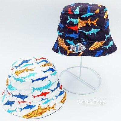 ≡ OnlyLingo ≡ 海底魚兒雙面戴漁夫帽 0-4Y 頭圍 46-51cm