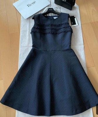 Rene 女裝 2019秋冬目錄款 藍色洋裝 全新品 日本製34=MSGRACY 38 日本高級女裝品牌 吊牌完整 🌸日本女主播最愛品牌🍒誠可小議 免運