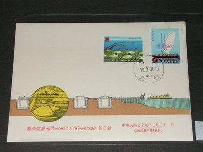 【愛郵者】〈首日封〉套票封 79年 經濟建設--液化天然氣接收站 2全 直接買 / 特276(專276) C79-4