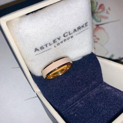 London Astley Clarke soft pink gold ring hermes lv pandora cos 英國超靚簡約設計瓷面粉色配金色戒指