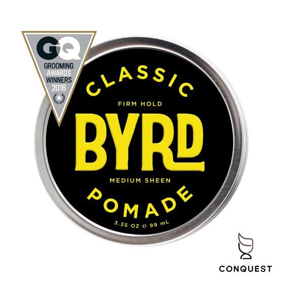 【 CONQUEST 】BYRD CLASSIC Pomade 油性髮油 蠟性髮油 易清洗 高定型力 衝浪運動首選髮油