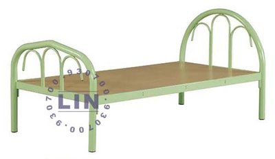 【品特優家具倉儲】P834-22床架 綠色單層鋼床