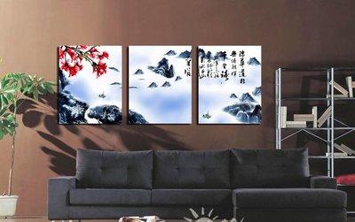【厚2.5cm】經典風景畫-客廳現代簡約裝飾畫無框畫【190114_779】【35*50cm】1套價