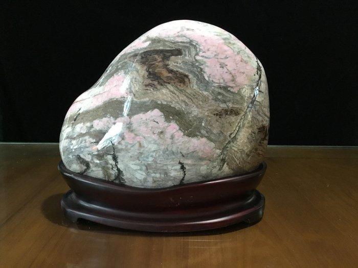 *藏雅軒*天然雅石國畫山水-花東玫瑰石系列-2815
