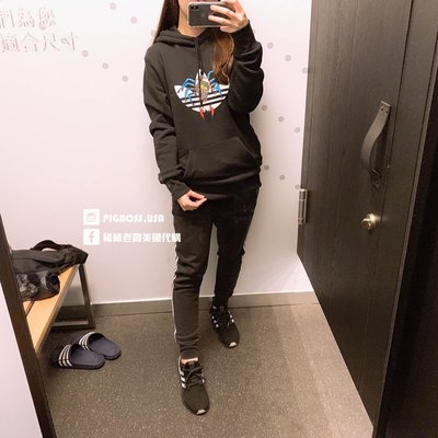 【豬豬老闆】Adidas Originals TANAAMI 黑 三葉草 蜘蛛塗鴉 刺繡 帽T 無刷毛 男DY6691