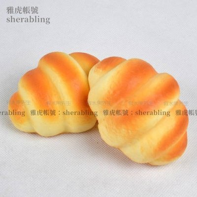 (MOLD-A_145)高仿真水果假麵包櫥柜食品麵包店裝飾品幼教柔軟手感仿真牛角麵包