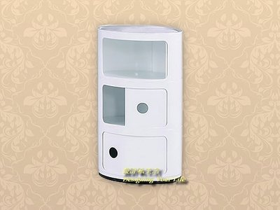 【DYL】偉恩白色三門置物櫃、收納櫃(高雄市區免運費)110