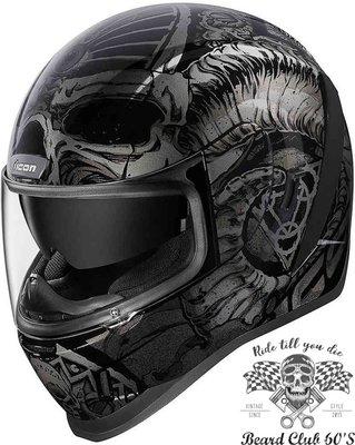 ♛大鬍子俱樂部♛ Icon ® Airform Sacrosanct 美國 街頭 搖滾 彩繪 重機 全罩 安全帽 B/G
