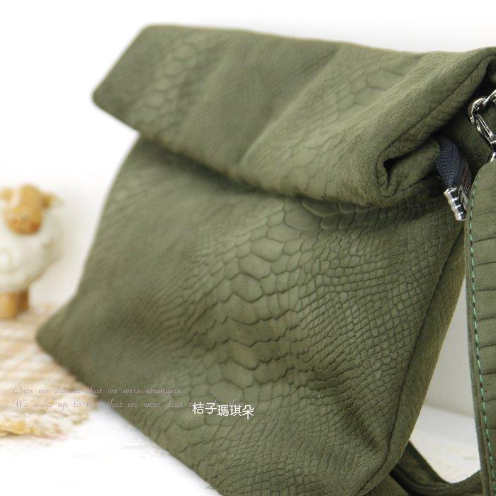 正韓 韓國連線 軟刷毛絨感 蛇皮紋 手拿包側背包-桔子瑪琪朵