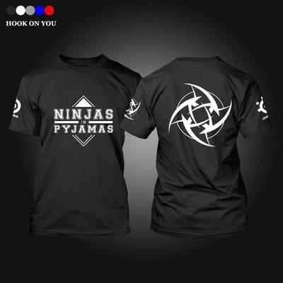 呱啦呱啦代購 【特價】Ninjas in Pyjamas NIP 站隊T恤 遊戲電競短袖 衫 CSGO 短袖T恤 短袖衣服 休閒服