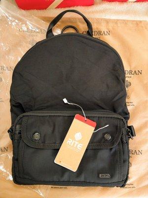 RITE M系列 擴充包 側背包 可擴充為 後背包 肩背包 側被包 3way 純黑 款