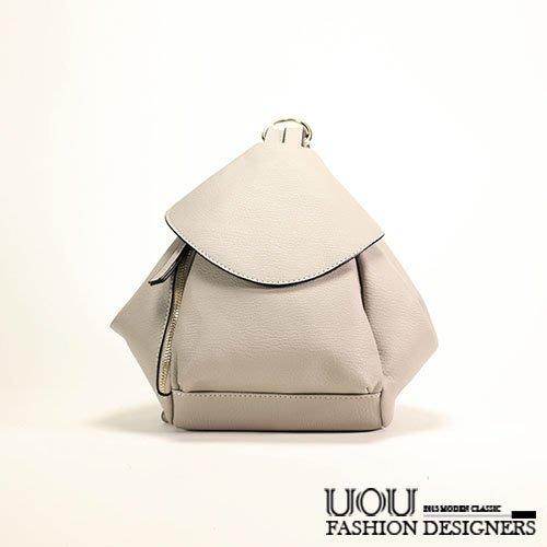*UOU精品*韓國時尚款 後背包半月包型雙肩包單肩包 ‧3色【K034】