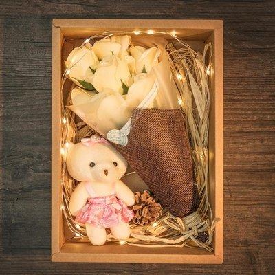 母親節創意生日禮物女生香皂花送女友閨蜜特別走心的韓國diy畢業