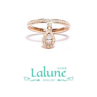 925純銀 Picture perfect 完美構想2號 玫瑰金水滴吊墜永恒戒晶鑽CZ水鑽小資OL造型戒指