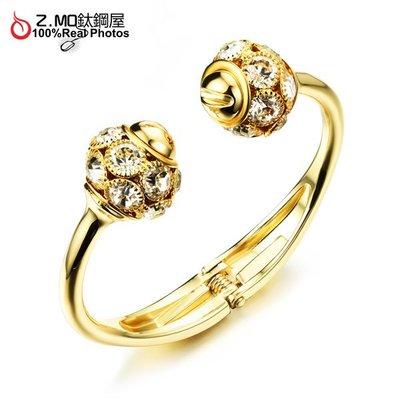 銅鍍金手鐲 精緻耀眼手環 派對飾品配件 韓版時尚手環 單件價【CKG494】Z.MO鈦鋼屋