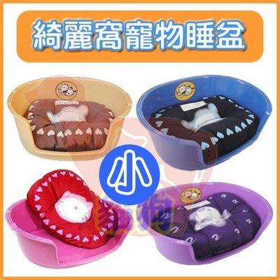 **貓狗大王**防水塑膠綺麗窩寵物睡盆/睡窩(附床墊)~超精美睡床/卡哇伊寵物小窩,四種顏色可選