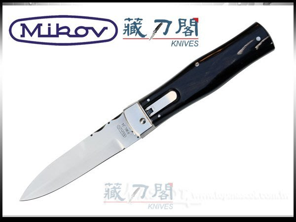 《藏刀閣》MIKOV-(241-RR-1/KP)高科技RWL34鋼彈簧刀(牛角柄)