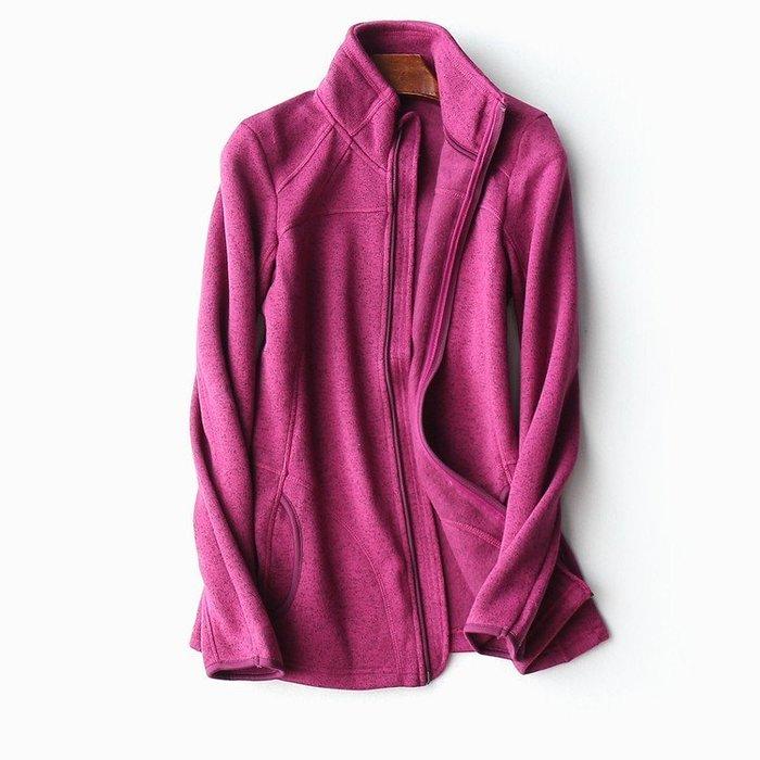品衣著~* 德國單 知名品牌出口單 漂亮立領混色休閒加絨小外套 運動 保暖 特價促銷 桃紅色