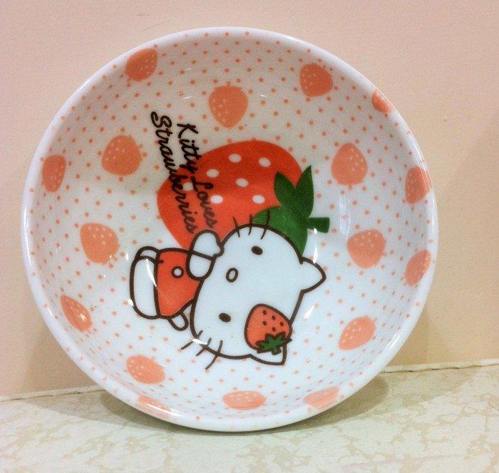 《東京家族》Kitty 草莓 陶瓷小碗/碟 日本限定