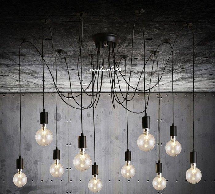 尼克卡樂斯~天女散花吊燈 蜘蛛燈 Edison Chandelier吊燈 工業風餐廳吊燈 客廳吊燈 吧檯服飾店燈具